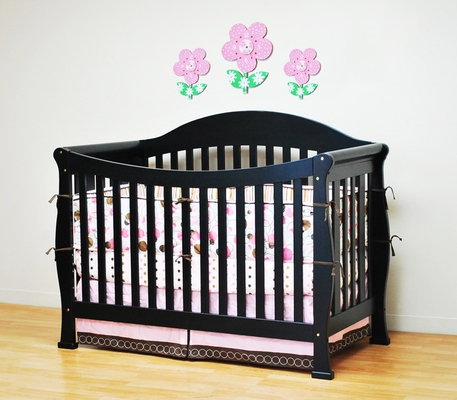 AFG Baby Allie Convertible Crib with Toddler Rail Black