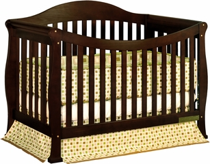 AFG Baby Allie Convertible Crib with Toddler Rail Espresso