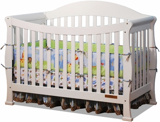 AFG Baby Allie Convertible Crib with Toddler Rail White