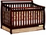 AFG Baby Amy Convertible Crib with Toddler Rail Cherry
