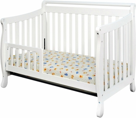 AFG Baby Amy Convertible Crib with Toddler Rail White
