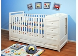 AFG Baby Daphne 3 in 1 Convertible Crib and Changer White