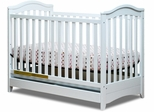 AFG Baby Jeanie 3 in 1 Convertible Crib with Drawer White