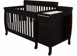 AFG Baby Kimberly 3 in 1 Convertible Crib and Changer Black