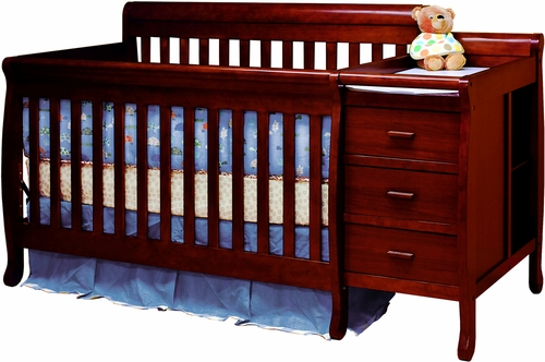AFG Baby Kimberly 3 in 1 Convertible Crib and Changer Cherry