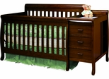AFG Baby Kimberly 3 in 1 Convertible Crib and Changer Espresso