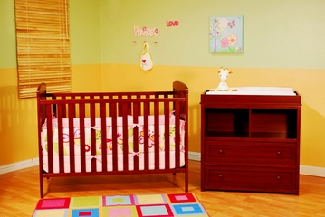 AFG Baby Langley 2 Piece Nursery Set Cherry