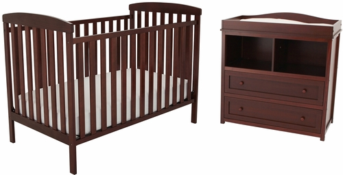 AFG Baby Langley 2 Piece Nursery Set Espresso