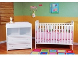 AFG Baby Langley 2 Piece Nursery Set White