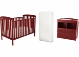 AFG Baby Langley Nursery Set with 96 Coil Mattress Cherry