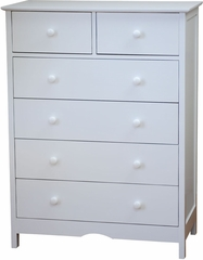 AFG Baby Molly 6 Drawer Dresser White