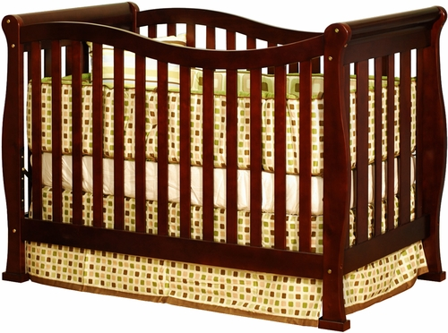 AFG Baby Nadia Convertible Crib with Toddler Rail Cherry
