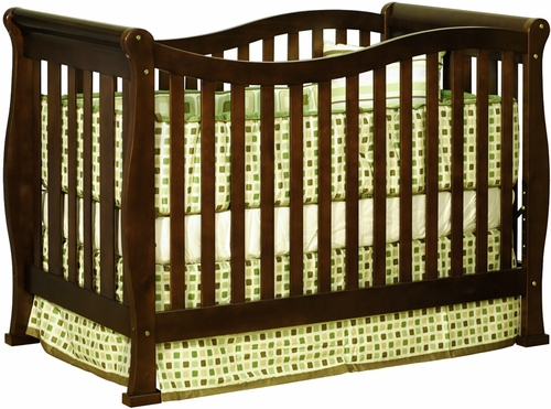 AFG Baby Nadia Convertible Crib with Toddler Rail Espresso
