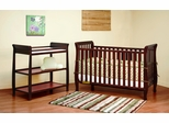 AFG Baby Naomi 4 in 1 Convertible Crib and Changer Set Cherry