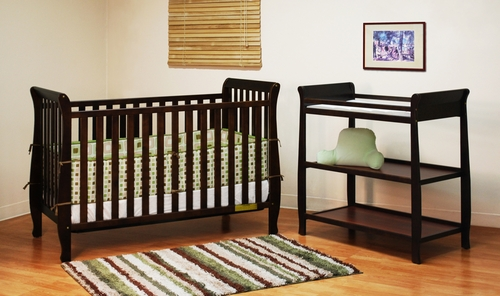 AFG Baby Naomi 4 in 1 Convertible Crib and Changer Set Espresso