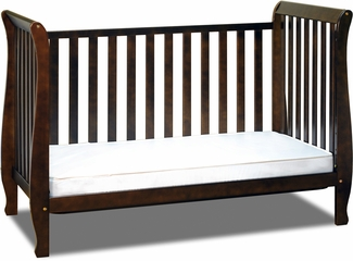 AFG Baby Naomi 4 in 1 Convertible Crib with Toddler Rail Espresso