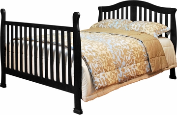 AFG Baby Spring Convertible Crib with Drawer with Toddler Rail Black