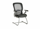 Air Grid Back Leather Visitors Chair - Office Star - 3685