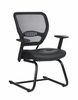 Air Grid Back Visitors Chair with Leather Seat - Office Star - 5705