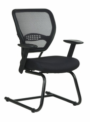 Air Grid Back Visitors Chair with Mesh Seat - Office Star - 5505