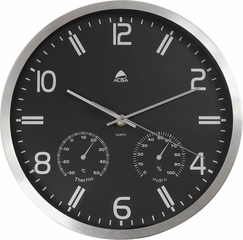 "ALBA 11.8"" Diameter Weather Quartz Wall Clock"