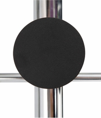 ALBA Chrome Floor Coat Stand with 8 Rounded Plastic Coat Pegs