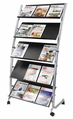 Alba Designed Large Mobile Literature Display 5 levels