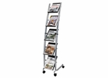 Alba Designed Narrow Mobile Literature Display 5 levels