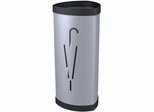 ALBA Metal & Plastic Metallic Grey Umbrella Stand