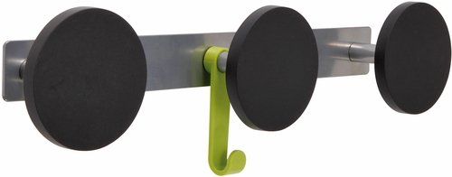 ALBA  Triple Plastic Knob Wall Coat Rack with 1 Plastic Hook