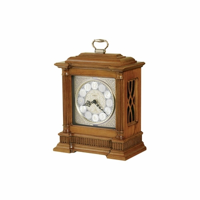 Albany Chiming Mantel Clock in Oak Yorkshire - Howard Miller