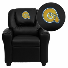 Albany State University Golden Rams Embroidered Kids Recliner - DG-ULT-KID-BK-41002-EMB-GG