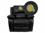 Albany State University Golden Rams Leather Rocker Recliner - MEN-DA3439-91-BK-41002-EMB-GG