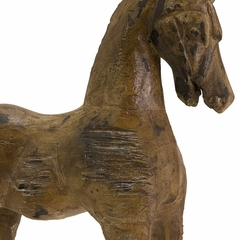 Albazia Wood Carved Horse - IMAX - 51375