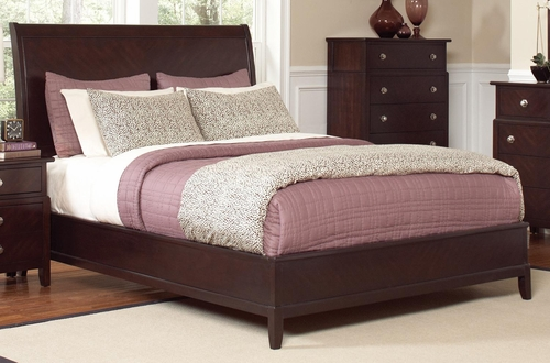 Albright King Bed in Cherry - 202651KE