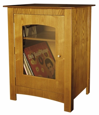 Album Storage / Turntable Stand - ST75 Cabinet - Oak - Crosley - ST75-OA