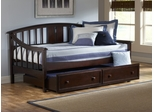 Alexander Daybed with Trundle Drawer in Deep Brown - Hillsdale Furniture - 1552DBT