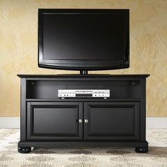 "Alexandria 42"" TV Stand in Black Finish - Crosley Furniture - KF10003ABK"