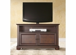 "Alexandria 42"" TV Stand in Vintage Mahogany Finish - Crosley Furniture - KF10003AMA"