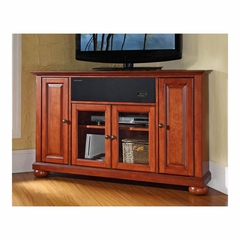 "Alexandria 48"" Corner AroundSound TV Stand in Classic Cherry - CROSLEY-KF1006AASCH"