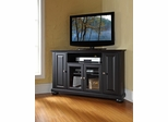 "Alexandria 48"" Corner TV Stand in Black - CROSLEY-KF10006ABK"