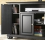 "Alexandria 48"" TV Stand in Black Finish - Crosley Furniture - KF10002ABK"
