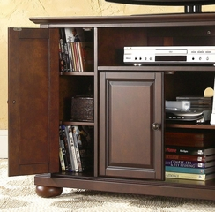 "Alexandria 48"" TV Stand in Vintage Mahogany Finish - Crosley Furniture - KF10002AMA"