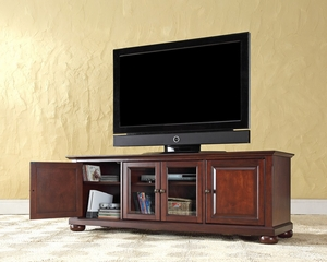 "Alexandria 60"" Low Profile TV Stand in Vintage Mahogany - CROSLEY-KF10005AMA"