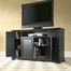 "Alexandria 60"" TV Stand in Black Finish - Crosley Furniture - KF10001ABK"