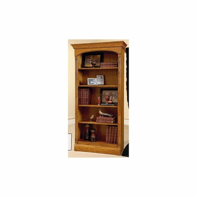 Alexandria Medium Legacy Oak Bookcase by Ty Pennington - Howard Miller