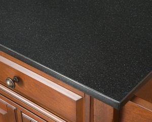 Alexandria Solid Black Granite Top Kitchen Island in Black Finish - Crosley Furniture - KF30004ABK