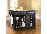 Alexandria Solid Granite Top Kitchen Island in Black Finish - Crosley Furniture - KF30003ABK