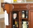 Alexandria Solid Granite Top Kitchen Island in Classic Cherry Finish - Crosley Furniture - KF30003ACH