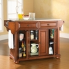 Alexandria Stainless Steel Top Kitchen Island in Classic Cherry Finish - Crosley Furniture - KF30002ACH